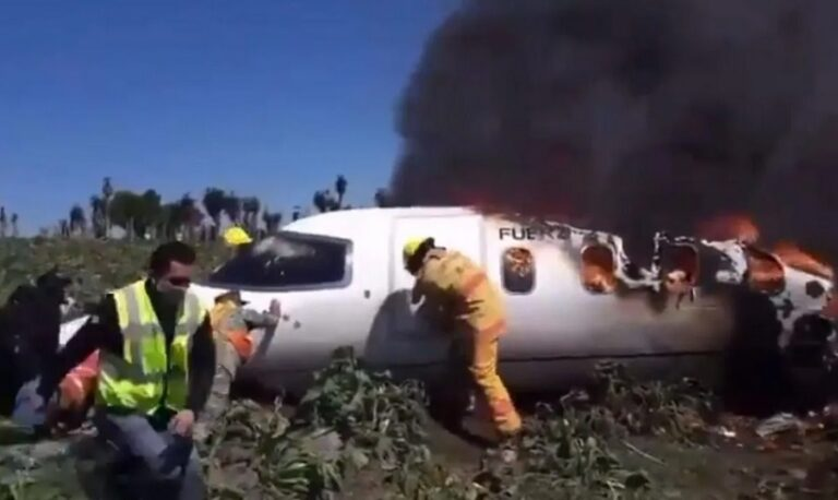 Mexican Air Force plane crashes in Veracruz, there are 7 dead (VIDEO)